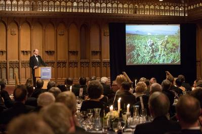 Explorer Sir Ranulph Fiennes at the IMarEST's annual dinner at the Guildhall