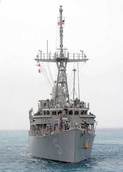 ex-USS Guardian: Photo credit USN