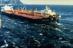 Exxon Valdez Aground: Photo credit NOAA US Govt.