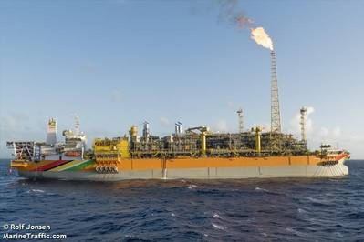 ExxonMobil's Liza Destiny FPSO offshore Guyana - Credit:Rolf Jonsen/MarineTraffic.com