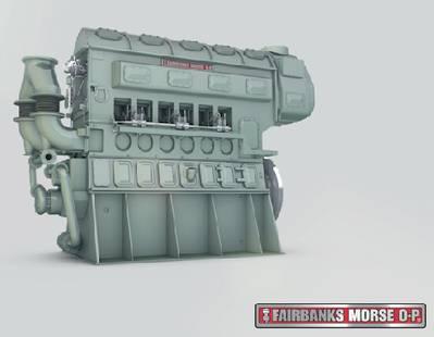 Fairbanks Morse engine: Courtesy of the manafacturers