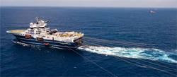Featured vessel is Geo Caspian, one of Fugro's C-Class vessels