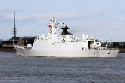 File Image: A chinese warship heads to sea. CREDIT: AdobeStock / © VanderWolf