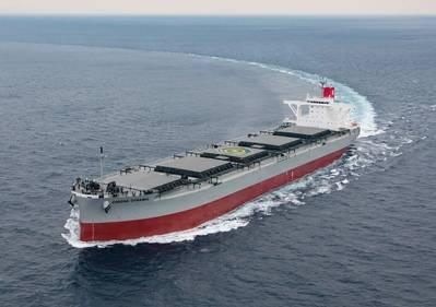 File Image: A recently delivered K Line Coal Carrier. CREDIT: K Line