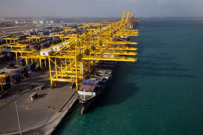 File image: A typical DP World Terminal during cargo operations. (CREDIT: DP World)