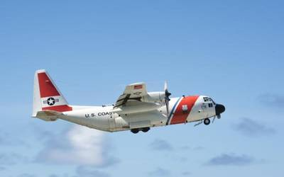 File Image: a USCG fixed wing asset in flight (CREDIT: USCG)