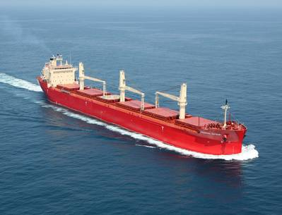 file photo: a foreign registered vessel plying thre Great Lakes.