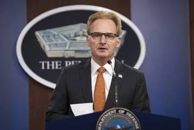 File photo: Acting Secretary of the Navy Thomas B. Modly speaks at a Pentagon press briefing, Washington, D.C., April 2, 2020. (DoD photo by Lisa Ferdinando)