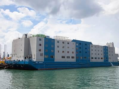 File Photo - Bibby Progress floating hotel - Image Credit: Bibby Maritime