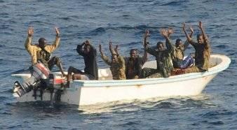 File Photo: captured pirates off of Somalia.