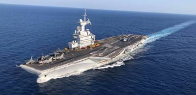File photo: France's Marine Nationale aircraft carrier FS Charles De Gaulle (R 91) (U.S. Marine Corps photo by Maj. Joshua Smith)