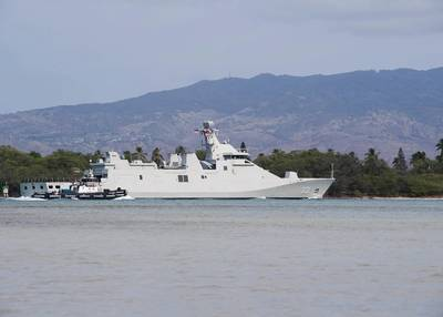 File photo: Indonesia Navy guided-missile frigate KRI Martadinata (331) in Pearl Harbor in 2018. (Photo: Jessica O. Blackwell / U.S. Navy)