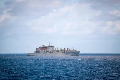 File photo: Military Sealift Command (MSC) auxiliary dry cargo and ammunition ship USNS Charles Drew (T-AKE 10) (U.S. Navy photo by Devin M. Langer)