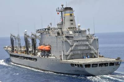 File photo: Military Sealift Command fleet replenishment oiler USNS Henry J. Kaiser (U.S. Navy photo by Stephen M. Votaw)