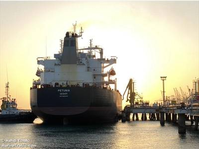 File photo of oil tanker Petunia (© Mahdi Elhaki / MarineTraffic.com)