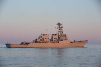 File photo: The Arleigh Burke-class guided-missile destroyer USS Mitscher (DDG 57) (U.S. Army photo by Dakota Young)