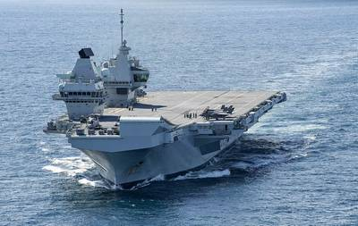 File photo: The Royal Navy aircraft carrier HMS Queen Elizabeth (R08) (Photo: Nathan T. Beard / U.S. Navy)