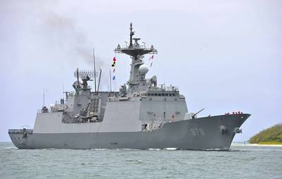 File Photo: The South Korean destroyer Wang Geon (DDH 978) arrives at Joint Base Pearl Harbor-Hickam, Hawaii, May 20, 2014 (U.S. Navy photo by Mass Communication Specialist 3rd Class Diana Quinlan/Released)