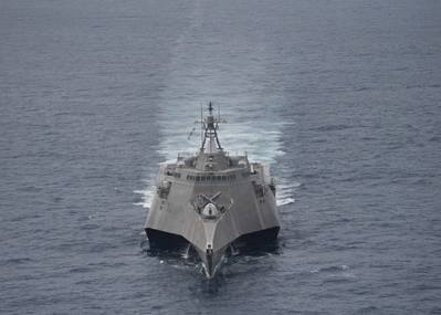 File photo: U.S. Navy littoral combat ship USS Coronado (LCS 4) underway conducting exercises in the South China Sea in 2017. (Photo: Amy Ressler / U.S. Navy)