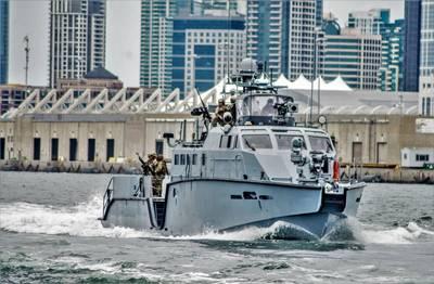File photo: U.S. Navy sailors aboard a MKVI patrol boat in San Diego in June 2019. (U.S. Navy photo by Nelson Doromal Jr.)