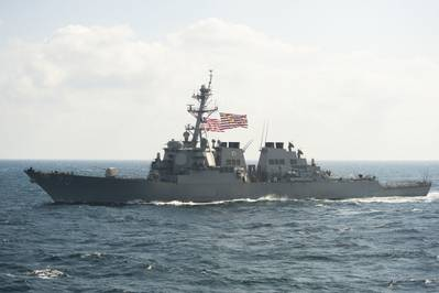 File photo: USS Hopper (DDG 70) in November 2017 (U.S. Navy photo by Daniel Pastor)