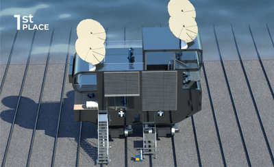 First place (2000 Euros) was won by DAO Innovation, from Romania. Image courtesy: ShipDX/GLO Marine
