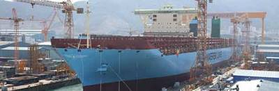 First Triple-E Class Afloat: Photo credit Maersk
