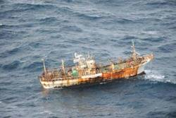 Fishing boat that survived Tsunami: Photo credit: USCG