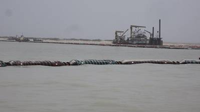floating dredge line configuration