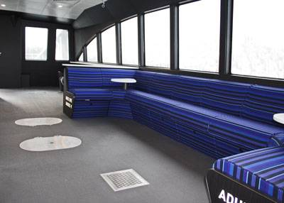 Flush mounted watertight hatches and deck drains promote accessibility and can be submitted to the Coast Guard as an alternative to six-inch door coamings. (Image courtesy All American Marine)