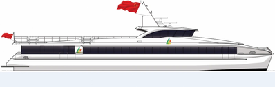 Four 42-meter ferries will be constructed by Aulong for Xidao Dazhou Tourism Co Ltd of China from March 2018 (Image: Aulong)