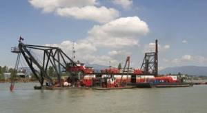 Fraser River Dredging: Photo credit Port Metro