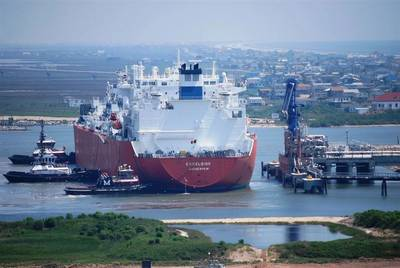 Freeport LNG terminal: Photo courtesy of the operators