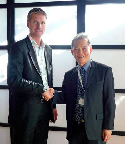 From left: Mr. Trond K. Johannessen, President & CEO of Hatteland Display AS and Mr. Joseph Foo, Executive Chairman of Jason Electronics Pte Ltd.