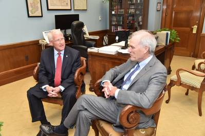 From left: Roger Wicker with Richard Spencer (Photo: Sen. Wicker's office)