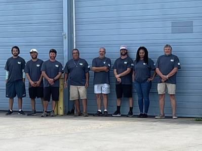 From left to right: Ed Hennessey, Justin Owens, Jimmy Lossee, Gaston Saada, Ralph Capotosto, Joe Kotapish, Sarah Busch and Smokey Glover. (Photo: Lake Assault Boats)
