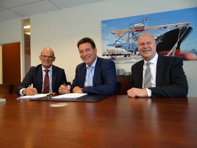 From left to right: Jeroen de Haas, Managing Director of BMT Surveys (Rotterdam); Erik Overtoom, OBEG Founder and Yrjo Migchelsen, BMT's Head of Fire Investigations (Photo: BMT)