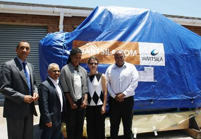 From left to right: Professor Derrick Swartz, Vice Chancellor NMMU; Greg Davids, Wärtsilä Business Development Partner in Africa; Itumeleng Pooe, SAMSA Senior Manager Marine Tourism & Leisure; Professor Dalenca Pottas, Acting Dean, Faculty of Engineering NMMU; and Odwa Mtati, SAIMI Project Manager