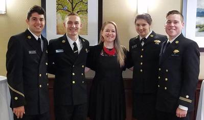 From left to right: Vincent Policastro, Joshua Caan, Jenny Terpenning, Rebecca Snyder and Chandler Chiappe (Photo: Crowley)