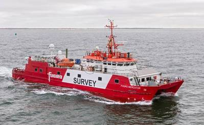 Fugro Mercator is one of three vessels carrying out seabed surveys for North Falls.- Credit: RWE