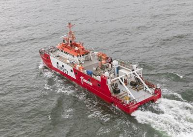 Fugro Mercator is one of the vessels that will work at the Five Estuaries project - Credit: RWE