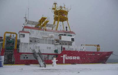 Fugro Vessel: Photo credit Fugro OSAE