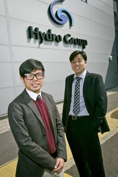 Gabriel Tan, technical support supervisor and Steve Ang, technical sales manager, Hydro Group