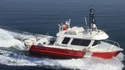 Garrot, a Canadian Coast Guard's launch dedicated to the hydrographic survey operations of the Canadian Hydrographic Service recently converted to unmanned mode by ASV Global. (Photo: Fisheries and Oceans Canada)