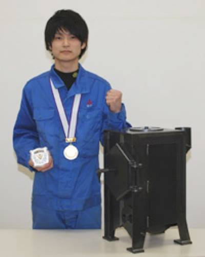 Gold medal winner Yusuke Shiomoto: Photo credit MHI