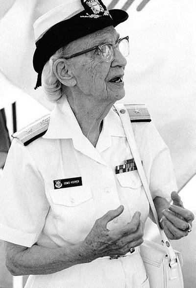 Grace Hopper (Official U.S. Navy Photograph, NHHC.)