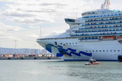 Grand Princess docks in Oakland (Photo: Port of Oakland)