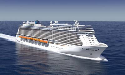 Graphic rendering of the Breakaway Plus vessel (courtesy Meyer Werft)