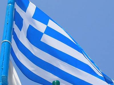 Greek Flag: Photo credit Wiki CC2