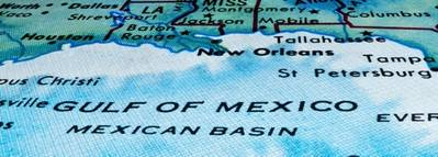 Gulf of Mexico Map courtesy of BP